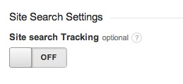 Google Analytics Site Search Button