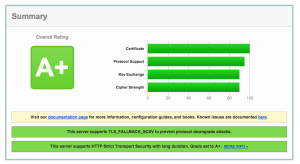 SSL Labs Test Result
